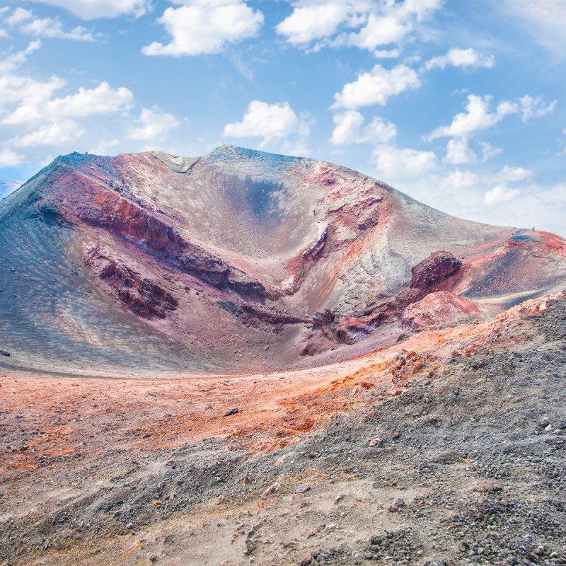 Einen Vulkan erklimmen