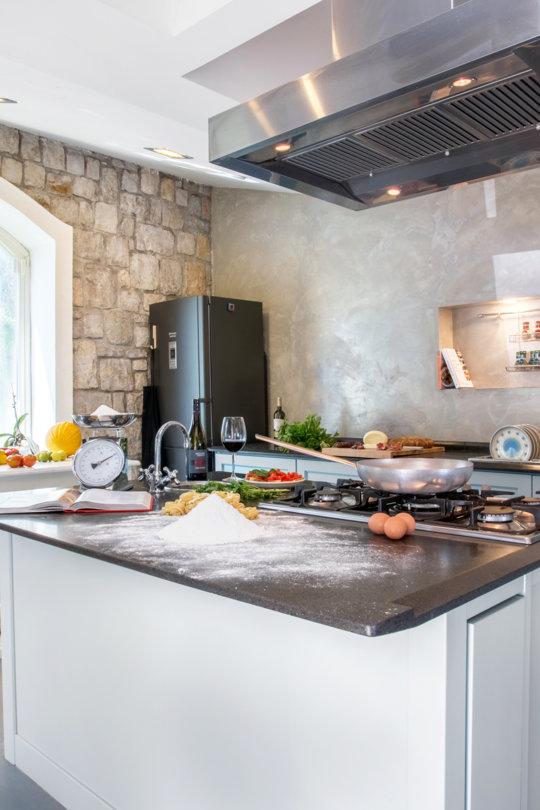Atelier cuisine à la villa